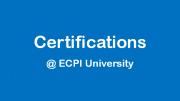 Certifications @ ECPI
